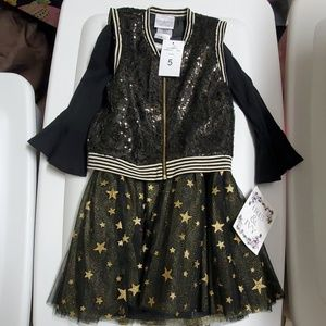 NWT 5 Iris & Ivy Star dress with sequin jacket